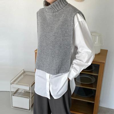 Wool Turtleneck Vest