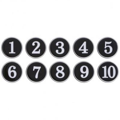 번호판 1-200 (검정) 10개입1세트(1130) 안내판 표지판