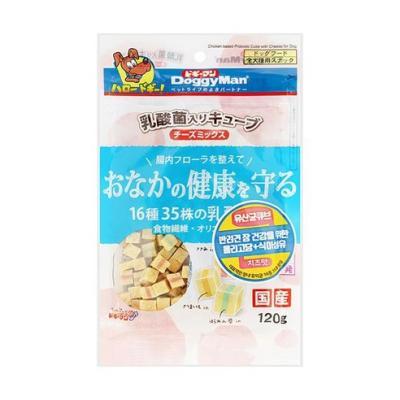 도기맨 장에 좋은 유산균 큐브(치즈)120g 강아지간식