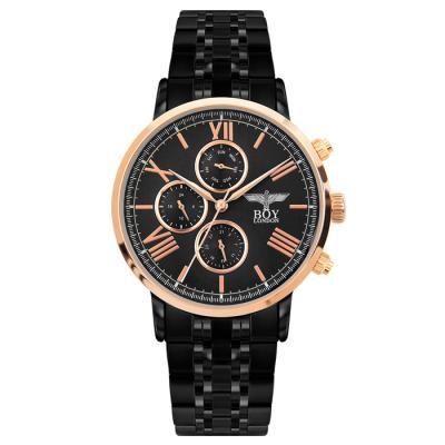 보이런던 칼렙-올블랙 남성 메탈 손목시계