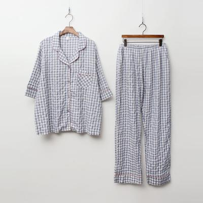 Gingham Check Pajama Set