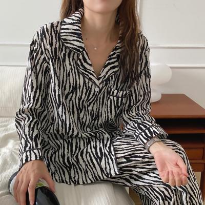 여성 홈웨어 잠옷 세트 파자마 오닝지브라