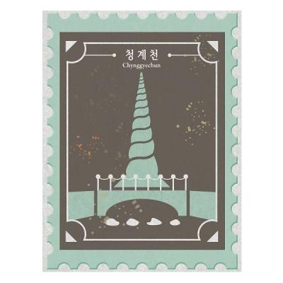 [한국폼텍] 서울을 홍보하자~My Sticker 캐리어 스티거-청계천 2매/입 MS-1103