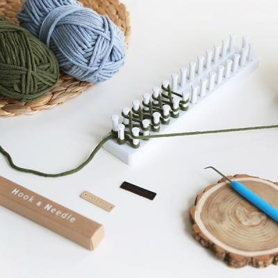 이지베틀 뜨개질set (털실1ea+플라스틱판+부자재)