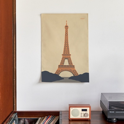 파리 일러스트 패브릭 포스터 / 가리개 커튼