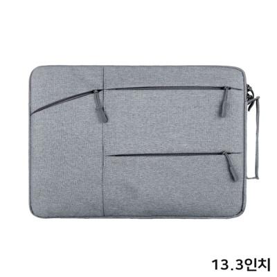 여성 예쁜 수납 파우치 노트북 가방 케이스 13.3 gery