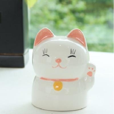 네코 저금통 도자기 복 고양이 동전 보관함 장식 소품
