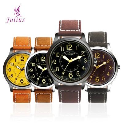 [JULIUS]줄리어스 JA835 시리즈 남녀공용 가죽손목시계 [본사정품]