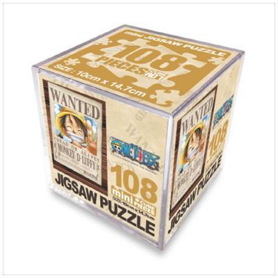 원피스 직소퍼즐 미니 Cube 108pcs: 현상수배 루피