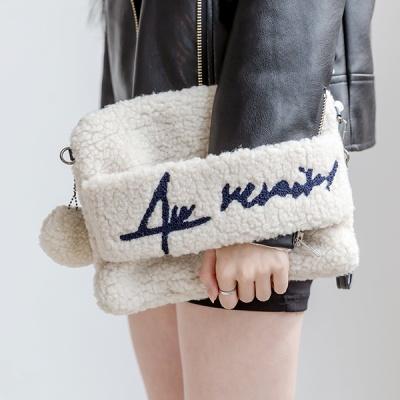 [F/W] W-04 양털 클러치백 여성가방