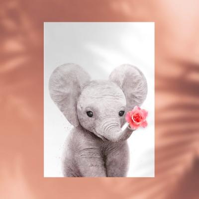 플라워포켓 코끼리 + 행잉프레임 세트
