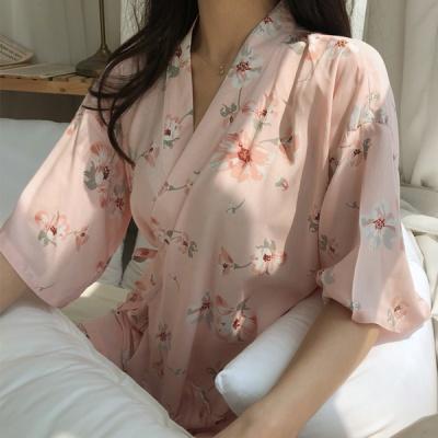 레이온 유카타 홈웨어 여름 잠옷