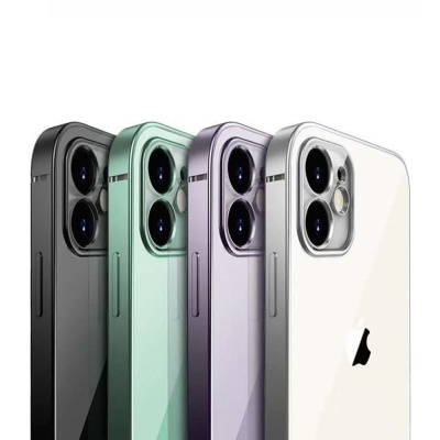 아이폰se2 8 7Plus 심플 컬러 라인 클리어 젤리케이스