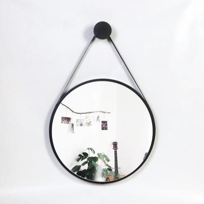 우드 카운티 스트링 원형 모던 벽거울 420-블랙