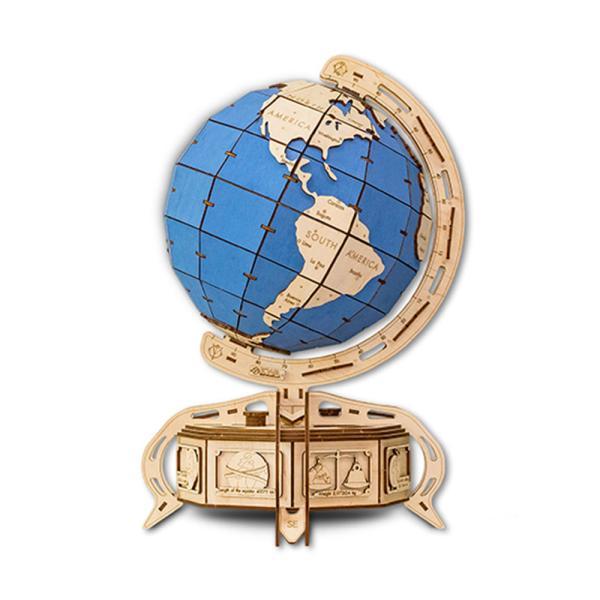 EWA 에코우드아트 3D DIY 입체 나무퍼즐 지구본