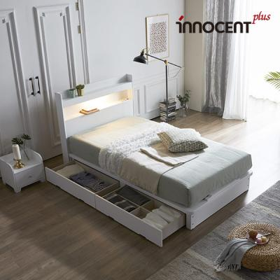 [이노센트] 리브 루아스 LED 큰서랍 침대 SS