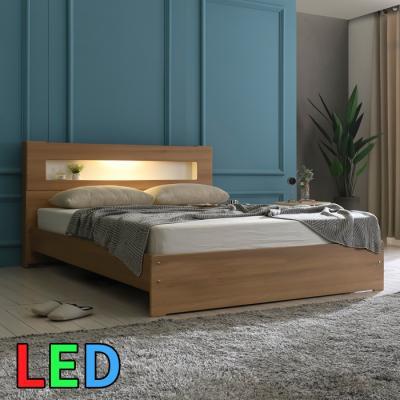 모델하우스 LED조명 침대 퀸 KC145