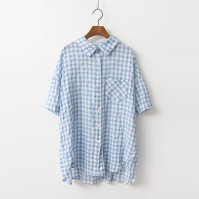 Linen Gingham Check Shirts