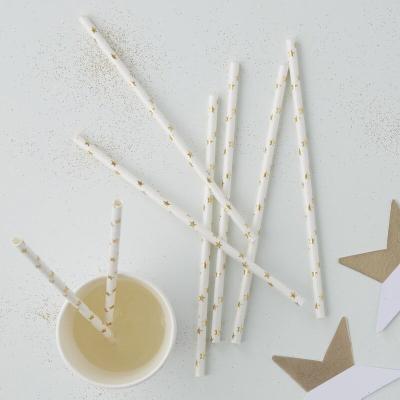골드 별무늬 종이 스트로우 Gold Star Paper Straws