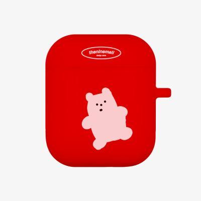 gummy화이트 에어팟 케이스[red]