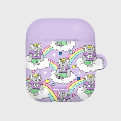 kkikki rainbow cloud-purple(Hard air pods)