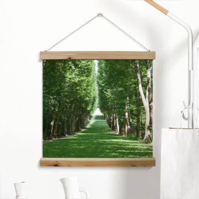 ah305-우드스크롤_60CmX60Cm-초록나무길