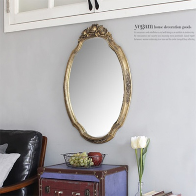 빈티지 앤 로즈골드 거울