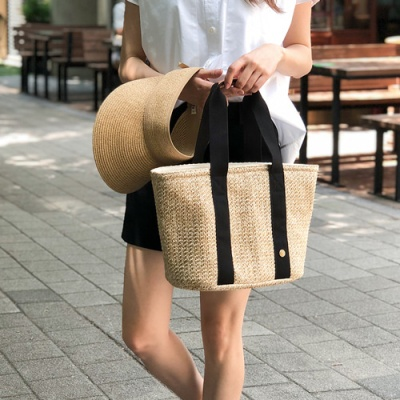Bonjour Rattan Cooler Bag_L (라탄 보냉백)
