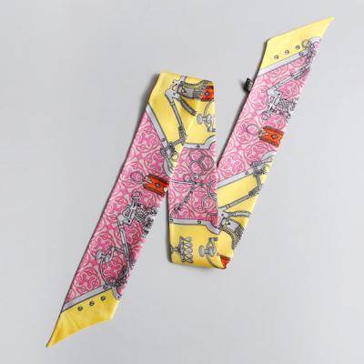 Silk Chain Petit Tie Scarf