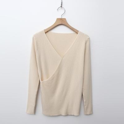 Simple Wrap V-Neck Knit
