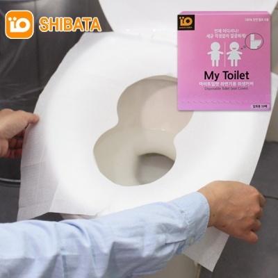 시바타 일회용 위생 변기커버 시트 50매+휴대 지퍼팩1매