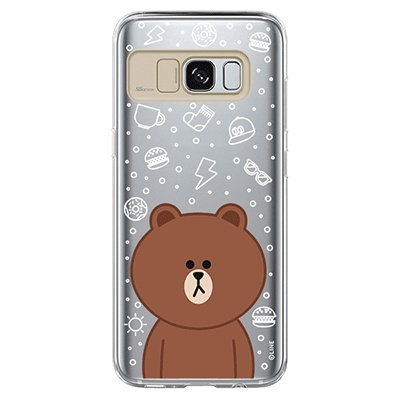 Galaxy S8/S8 plus LINE FRIENDS BROWN