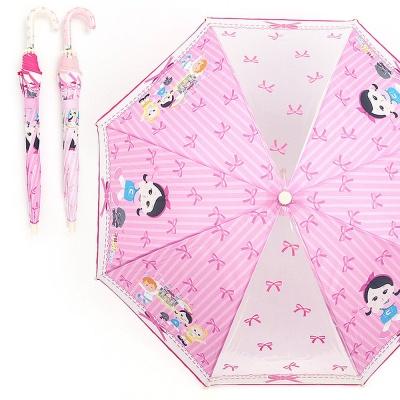 캐리와 장난감친구들 핑크리본 47 두폭POE우산 랜덤