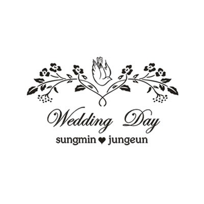 [웨딩주문제작] Wedding Day - 장미프레임