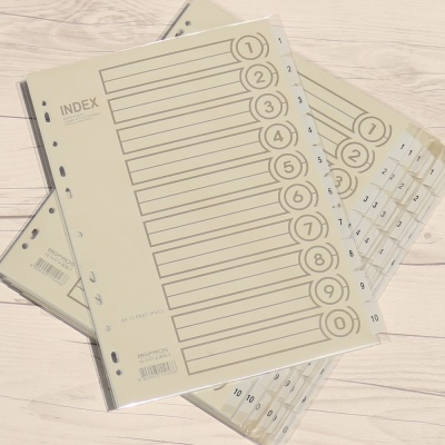 10분류x10세트..BiGPROS A4 PVC 화일 인덱스지 i610-1