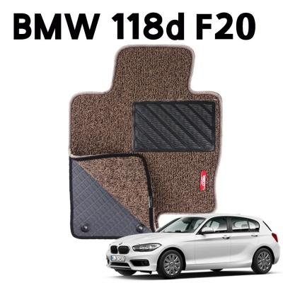 BMW 118d F20 이중 코일 차량 차 발 깔판 매트 Brown