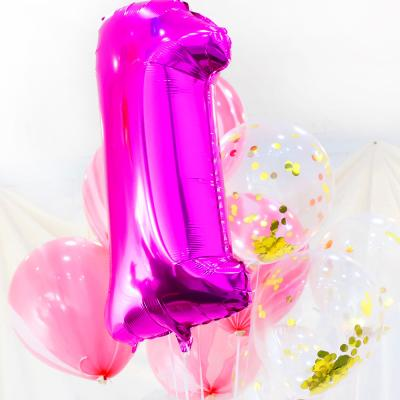 파티풍선세트 - 1주년 (핑크)