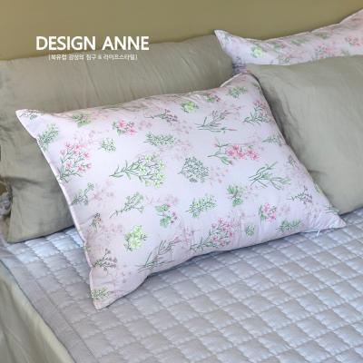 [디자인엔] 알러지케어 아이리스 누빔베개커버-핑크