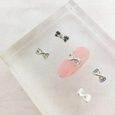 Woman bonita nail parts 큐티리본 1개 4color