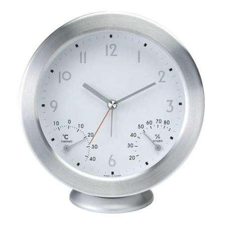 [시우아트] 무소음 탁상 겸용 시계 온습도계