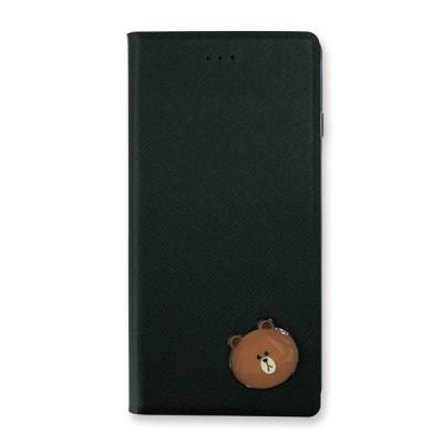 라인프렌즈 iPhone7,8 DIARY BROWN Badge LIGHT CASE