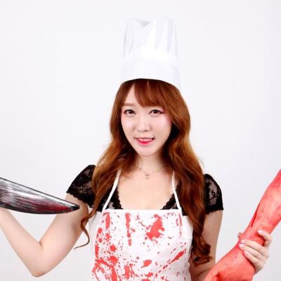고급 요리사 모자 (여자)