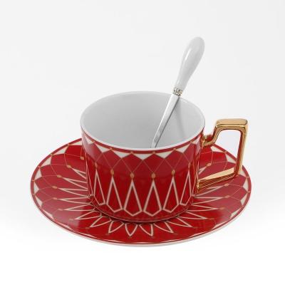 로열트리 노르딕 커피잔 세트(220ml) (레드) (쇼핑백
