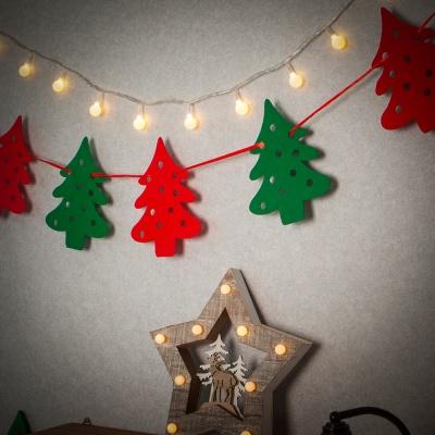 크리스마스 패브릭 가랜드(트리)