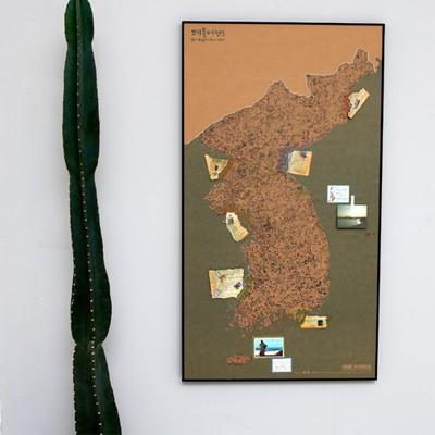 지구별 여행스케치  한국지도 - 빈티지