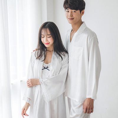 [쿠비카]하트 자가드 펄 프릴 앙상블 커플잠옷 WM107