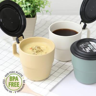 캠핑 커피 스프 원터치 플랩커버 휴대머그컵