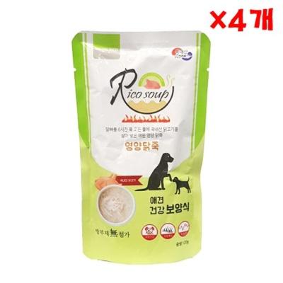 리코 영양 닭죽 120g X 4개 애견파우치 강아지용 국산
