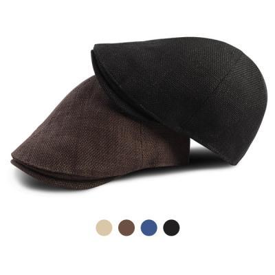 [디꾸보]린넨 베이직 헌팅캡 플랫 모자 HN563