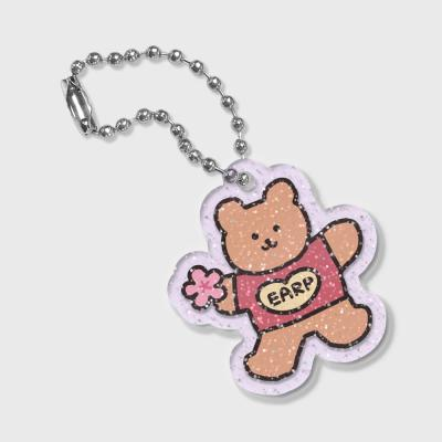Blossom bear heart(글리터키링-퍼플)